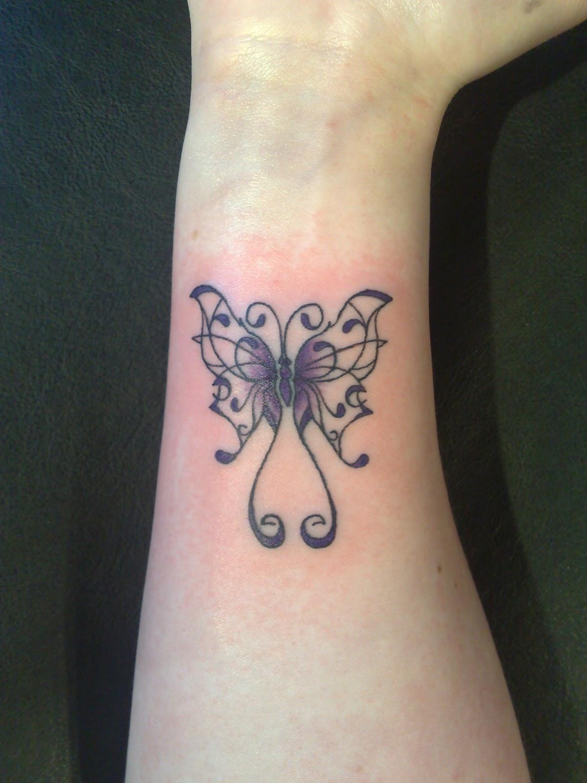 erfly tattoos on wrist