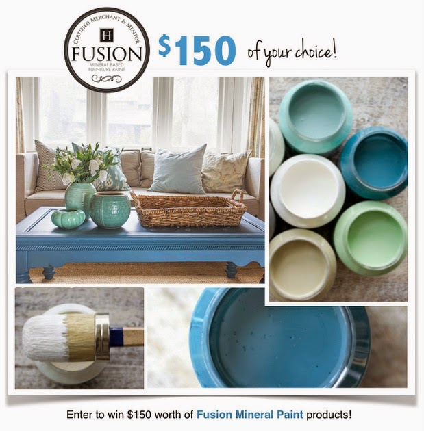 Giveaway, fusion mineral paint, beyond the picket fence, http://bec4-beyondthepicketfence.blogspot.com/2015/05/fusion-mineral-paint-giveaway.html
