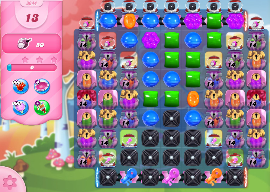Candy Crush Saga level 3044