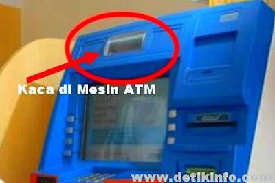 apa fungsi Cermin di mesin ATM ?