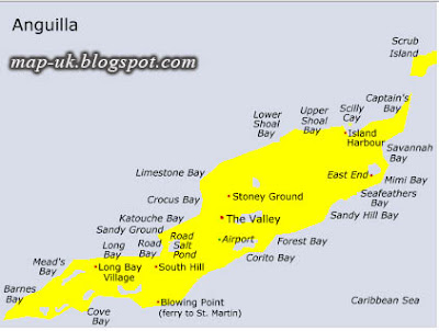 Anguilla Map Political and Region Information