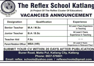 The Reflex School Katlang Jobs March 2019
