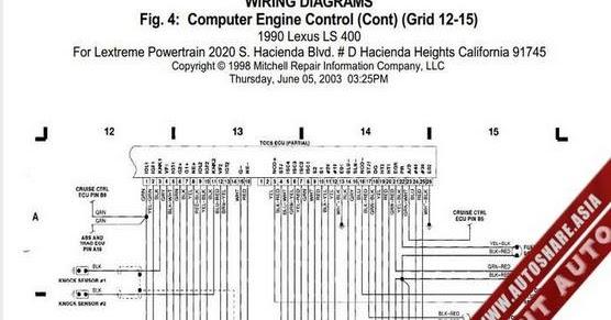 Lexus Ls400 1990 Engine Wiring Diagram