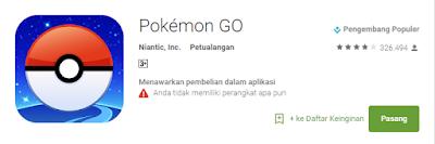 Jumlah Unduhan atau Download Pokemon Mencapai lebih dari 300ribu