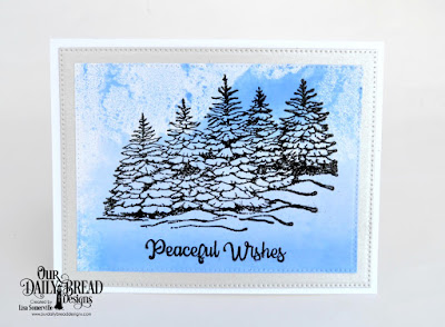 Stamp Set: Peaceful Wishes  Custom Dies: Pierced Rectangles
