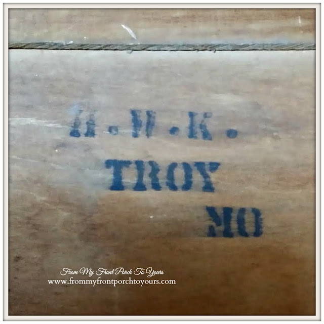 Vintage Pie Safe Marking-A.W.K. Troy MO-Treasure Hunt Thursday- From My Front Porch To Yours