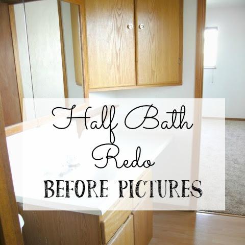 Half Bath Redo - Before Pictures