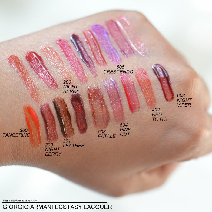 Ecstasy Lacquer Lip Gloss by Giorgio Armani Beauty #7