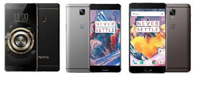 Nubia Z11 vs OnePlus 3 vs OnePlus 3T