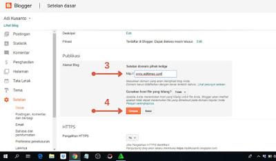 Tutorial menghubungkan domain ke blogspot