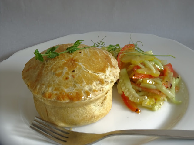 Goat meat pie
