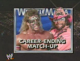 WWF / WWE - Wrestlemania 7: The Ultimate Warrior battled Randy Savage in a retirement match