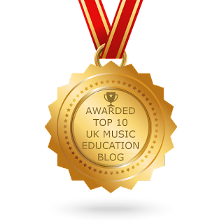 Thanks to YOU guys this blog www.music-online.org.uk has been awarded a position in the TOP 10 UK MUSIC EDUCATION BLOG  list.