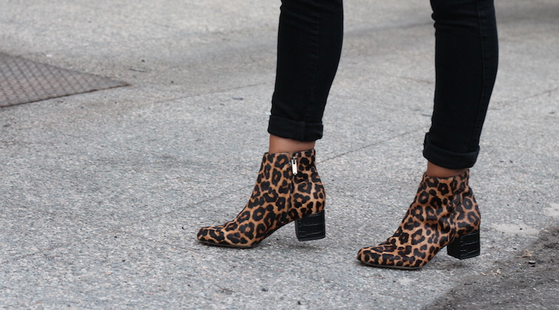 8530bbbc8 MELANEE SHALE  Leopard Booties for Fall
