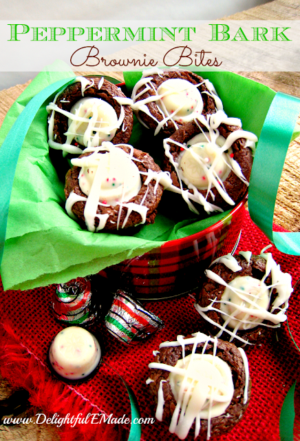 Peppermint Bark Brownie Bites by DelightfulEMade 3 20 Festive Holiday Treats 48