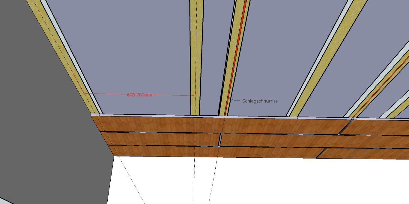 paneele anbringen decke yk26 hitoiro. Black Bedroom Furniture Sets. Home Design Ideas