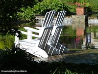 Picknick in Hmaburg. Picknickplatz in Planten un Blomen