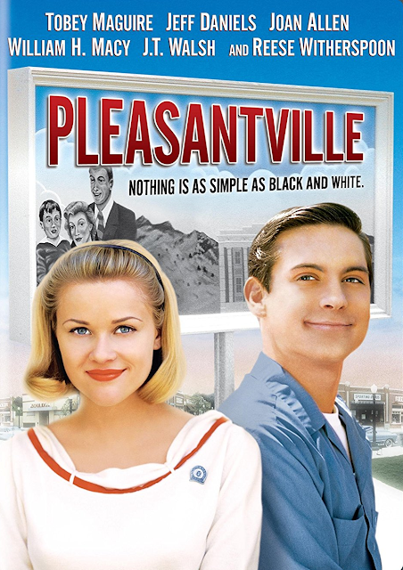 pleasantville, 1998 american fantasy comedy drama, movie, film, tobey maguire, reese witherspoon, gary ross