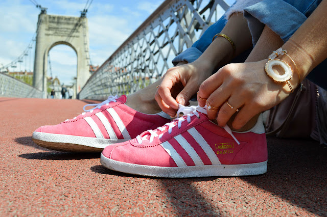photo gazelles adidas rose