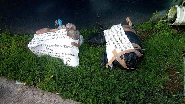 El CJNG levanta al hijo del comandante de la policía de Irapuato y lo dejan mutilado dentro de tres bolsas de plástico