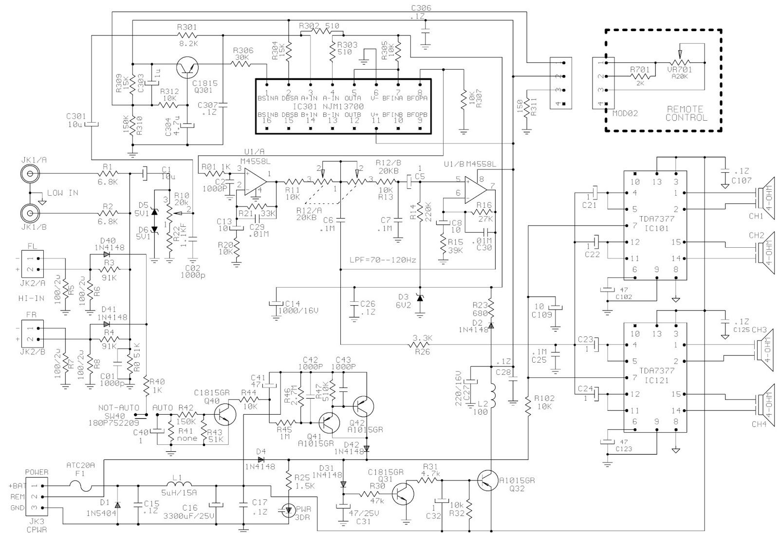 jbl basspro - subwoofer - specifications - schematic ... printed circuit board schematics wiring a circuit board