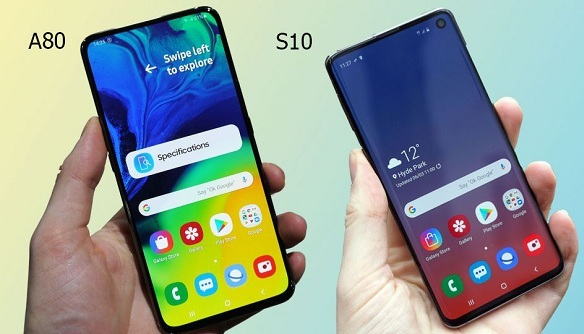 sumsung s10 vs a80