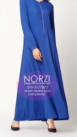 NBH0477 IMANINA JUBAH (NURSING FRIENDLY)