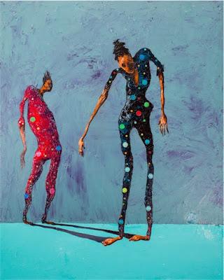 "Boniface Maina, ""Extension of Another"", 2016 - Acrylic on canvas | imagenes de obras de arte contemporaneo bellas, pinturas tristes, figuras abstractas | sad art paintings, drawings"