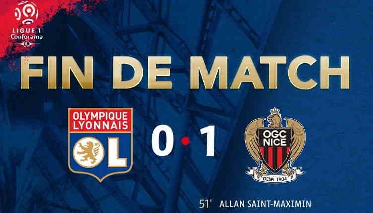 Hasil Lyon vs Nice Skor Akhir 0-1 [ Ligue 1 France 2018 ]