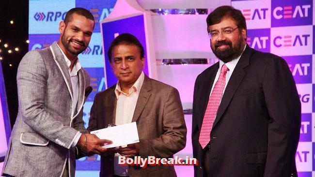 Shikhar Dhawan and Sunil Gavaskar, Chitrangada Singh performed at CEAT Cricket Ratings Awards 2014