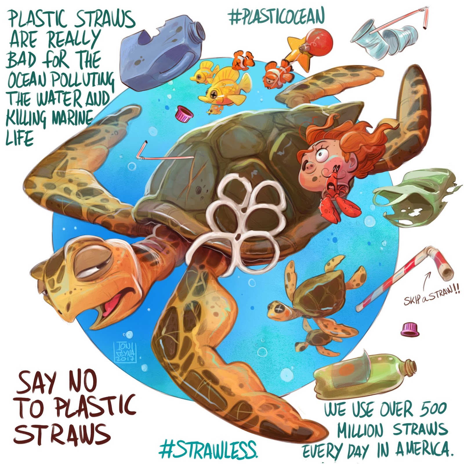 say no to plastic Plastic cotton buds don't degrade in nature (like all kind of plastic), we found them in oceans most of the time because people throw them in toilets and then they are not stopped in water treatment.