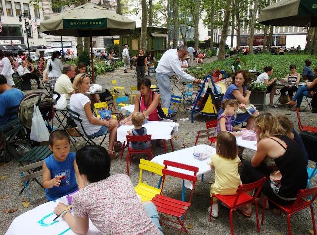 Parques em Nova York com crianças