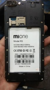 Mione R3 FIASH FILE MT6580 6 0 Firmware Without Password