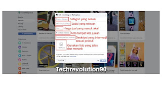 Upload Foto Produk dan Tulis Informasi di Marketplace Facebook