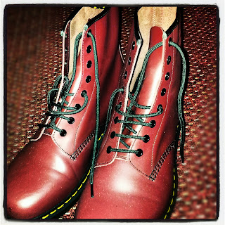 cherry red dr marten boots