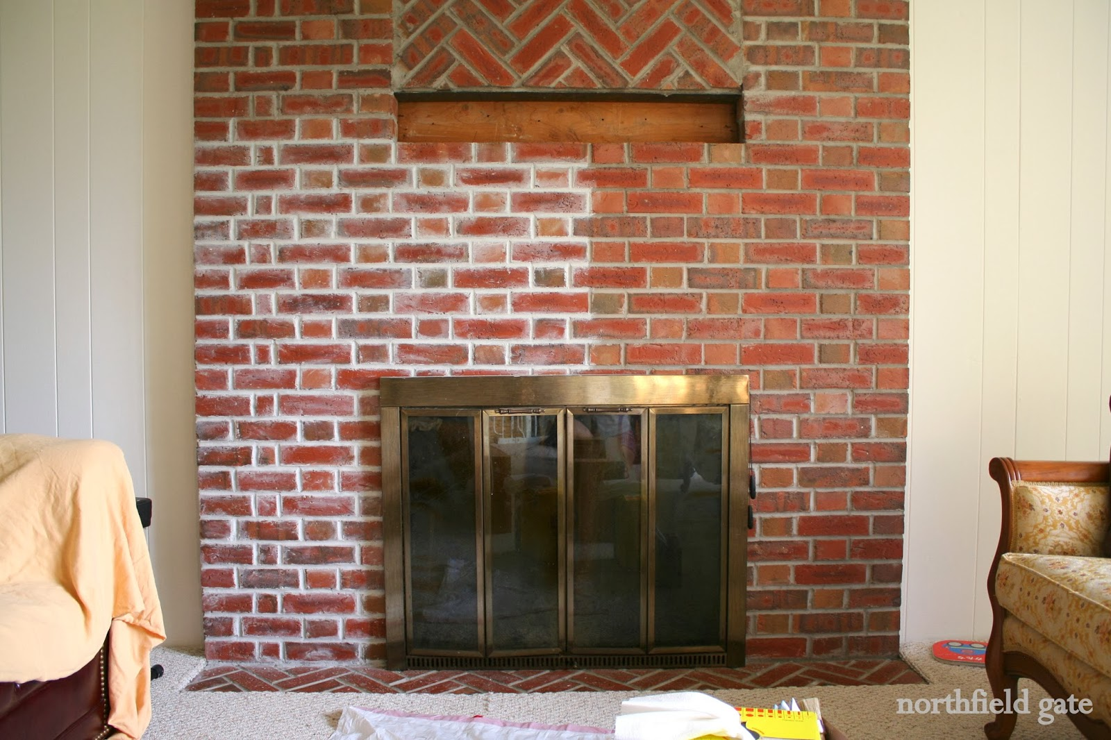 Studio Yuko Jones: Brick Fireplace Makeover