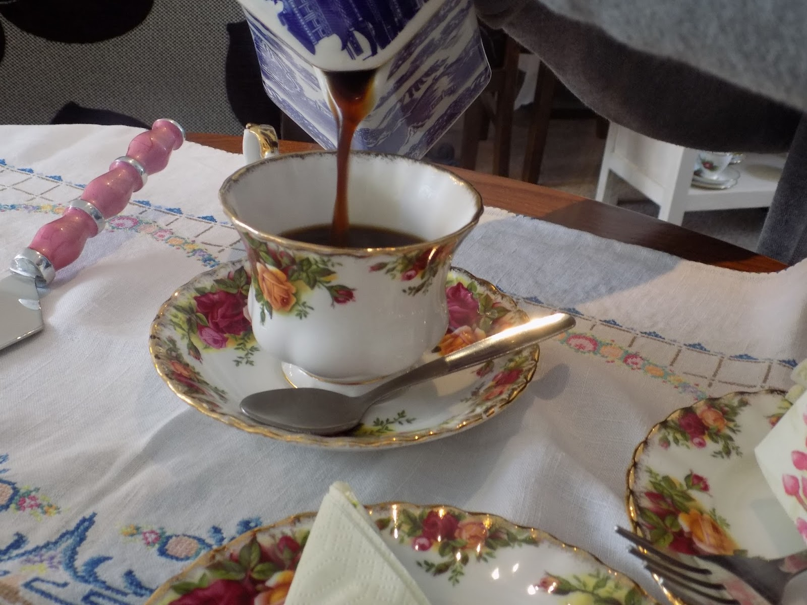 Afternoon tea at Helene's tearoom, Skipton