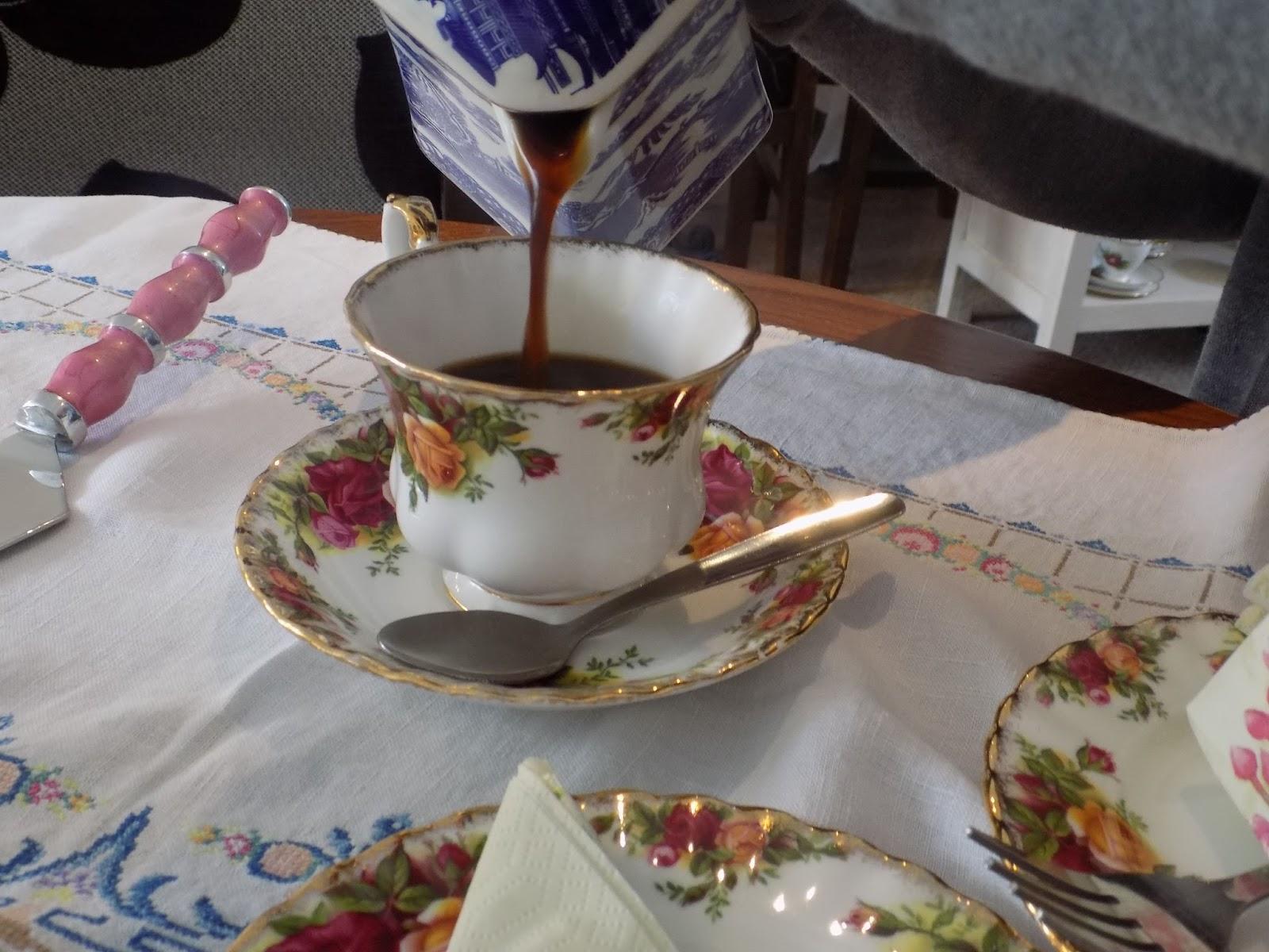Afternoon tea at Helene's tearoom, Skipton