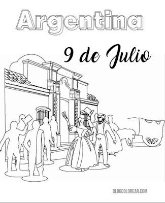 Casa de Tucumán para colorear