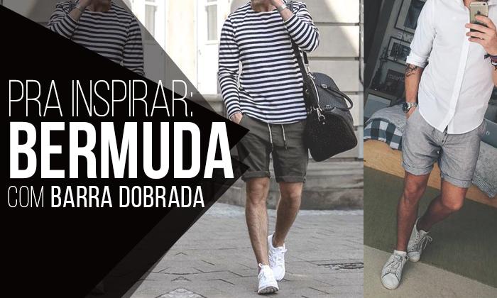 Macho Moda - Blog de Moda Masculina  Bermuda Masculina com Barra ... 72097767fde98
