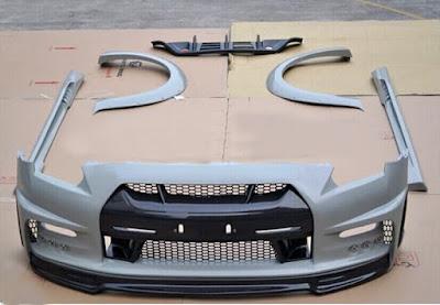 salah satu cara agar mobil kesayangan kita tampil lebih cantik eksteriornya Body Kit Mobil Bahan Plastik VS Fiber Bagusan Mana ?