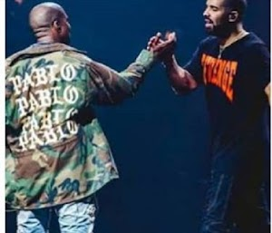Kanye Rants On Twitter About Drake Threatening Him And His Family .