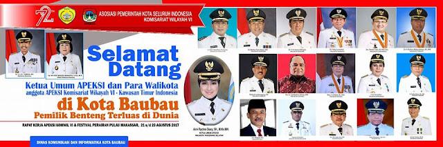 Besok 17 Walikota Dijadwalkan Hadiri Raker Apeksi di Baubau