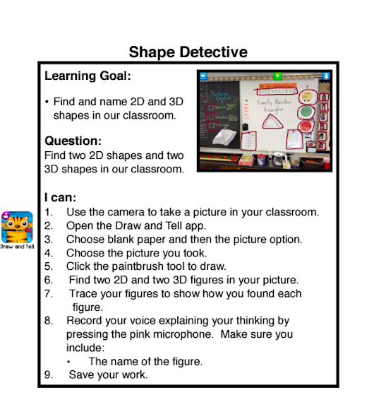 Shape Detectives - Pairing Literature, iPads and Math in the Primary Classroom ~ Mrs.Wideen's Blog