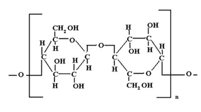 Chemical structure of cellulose.