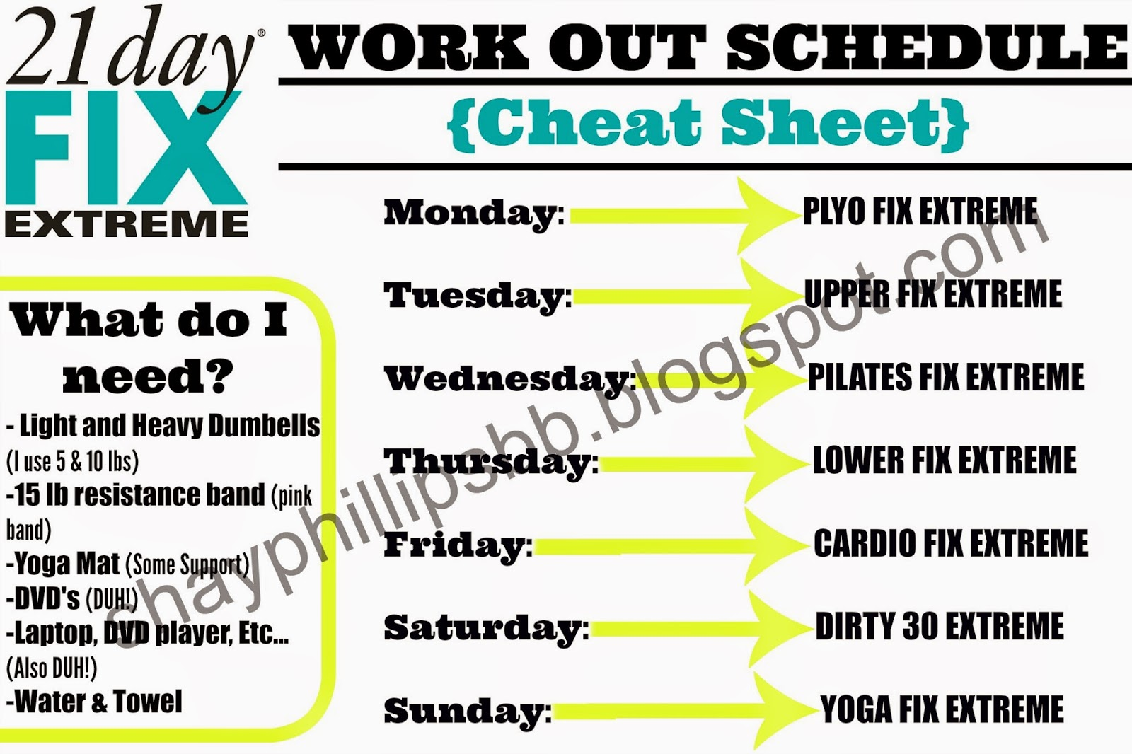 21 Day Fix Extreme Work Outs