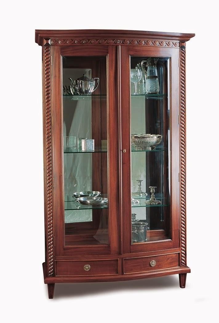 Muebles de comedor 7 vitrinas clasicas en caoba for Mostrar muebles