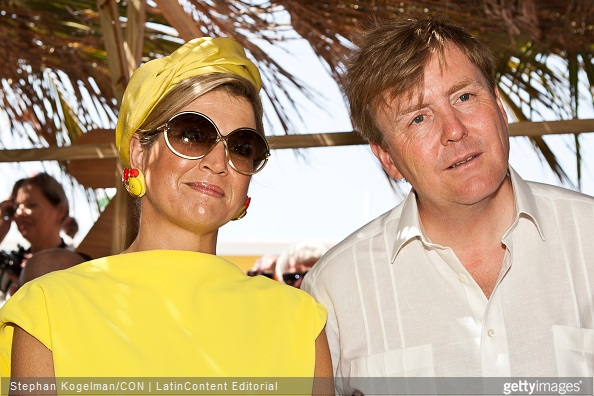 King Willem-Alexander and Queen Maxima of the Netherlands attend Dia di Rincon on April 30, 2015 in Rincon, Netherlands