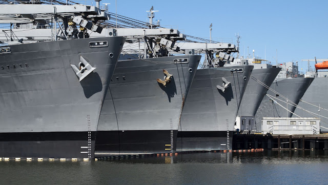 Air-craft carriers in Alameda, California
