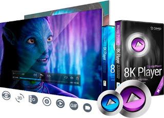 تحميل المشغل الرائع  8K Player 3.5.1  ثمانيه في واحد 2017